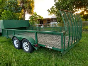 Trailer listo para trabajar! Working trailer 6x 16 double axle with brakes. Box for tools, heavy duty ready to work. for Sale in Miami, FL