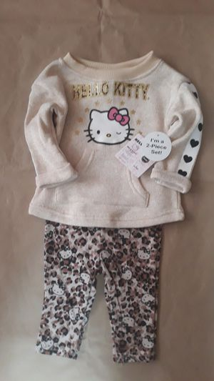 2pcs hello kitty girl tops+pant sz 6/9M for Sale in Fort Worth, TX