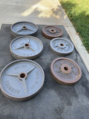 World class Olympic weights plates for Sale in Hemet, CA