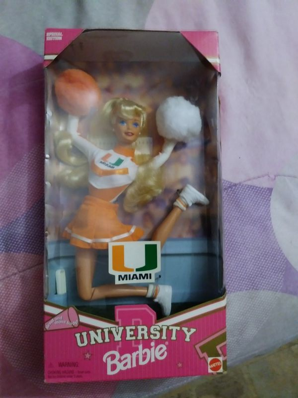 Barbie . University of Miami . Collector doll. New in box.