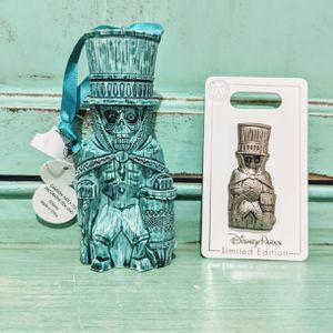 Walt Disney World Trader Sam's Grog Grotto Hatbox Ghost Tiki Mug Ornament Pin Set for Sale in Tampa, FL
