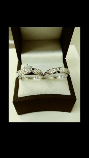 New with tag Solid 925 Sterling Silver ENGAGEMENT WEDDING Ring Set size 6 / 7 / 8 or 9 $150 set OR BEST OFFER ** WE SHIP!!📦📫** for Sale in Phoenix, AZ