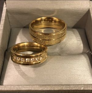 🌸ON SALE 🌸 18K Gold bond Matching Engagement/Wedding Ring- UNISEX -Prince Diamonds 💎 for Sale in Dallas, TX