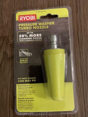 Ryobi turbo nozzle for pressure washers for Sale in Frisco, TX