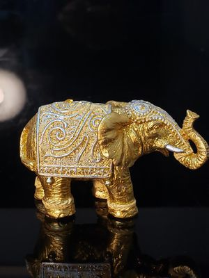 Resin 24K gold elephant figurine for Sale in Duluth, GA