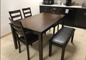 Dining table set espresso finish solid wood / brand new in box for Sale in Norwalk, CA
