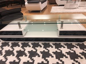 Black and White TV Stand with Glossy Finish for Sale in Dallas, TX