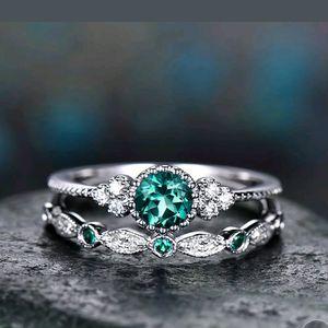 NWT Green Sapphire Wedding Ring Set for Sale in Prairieville, LA