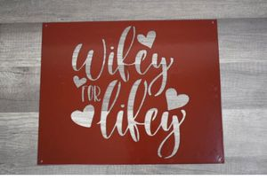 Metal Wifey for Lifey home decor sign/wall hanging for Sale in Umatilla, OR