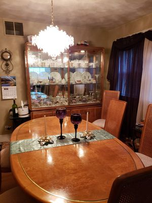 Dining Set Lighted Hutch...Solid for Sale in Cranston, RI