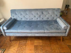 sky blue velvet couch/sofa (joliet velvet by george oliver) for Sale in Washington, DC