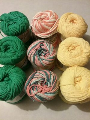 Yarn. New all cotton. Smoke and pet free. 9 skeins for Sale in Tacoma, WA