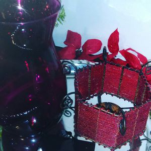 The Stunning Red Vase & Candle Holder Set for Sale in Baton Rouge, LA