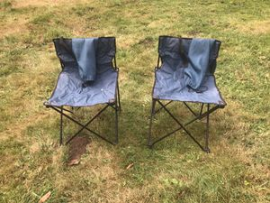 Two camping chairs for $15 in good working condition!!! for Sale in Sumner, WA