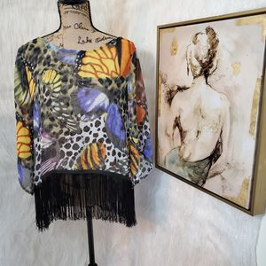 Medium Ark & Co. butterfly blouse for Sale in Rockford, IL