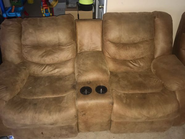 Sectional couch sofa. 3 piece with 4 recliners