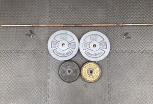 5ft Barbell and 70 lbs of Weight Plates for Sale in Alpharetta, GA