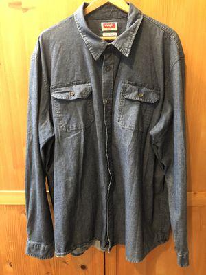 Wrangler 3XT Denim long sleeve shirt tall for Sale in Lakewood, CA