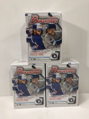 (3) Boxes Topps 2020 Bowman blaster box MLB baseball cards lot of 3 boxes for Sale in Burbank, CA