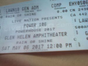 Powerhouse hard copy tickets! for Sale in Fontana, CA