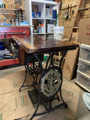 Old sewing machine bottom redid top and it's smooth for Sale in Wilsonville, OR