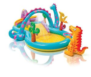 Kids Inflatable Dinoland Play Center Slide Pool And Games for Sale in Rocklin, CA