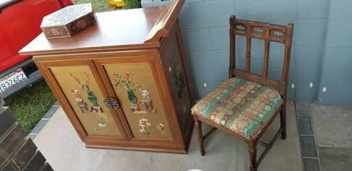 Antique furniture tv stand chair etc first 75.00 takes it all for Sale in La Mirada,  CA