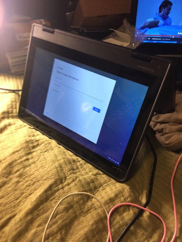 Laptop/Yoga Lenovo Chrome book touch-screen 4GB ram SSD16GB HD W/ charger HDMI /SD card Webcam119$