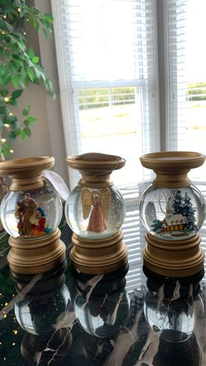 3 new lighted candle holder snow globes for Sale in Bell Buckle, TN