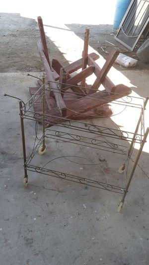 Mid century teacart missing glass for Sale in Yuma, AZ