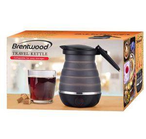 Brentwood Travel Kettle Collapsi Black Hot Water 110 /220 vol 28 Oz Tetera de Viaje Negra Plegable KT-1508BK for Sale in Hialeah, FL