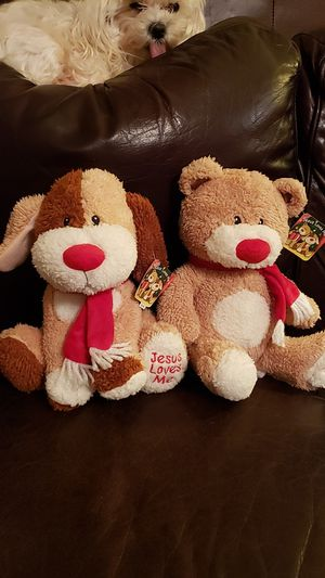 """""""Jesus Loves Me"""" stuffed animals NEW for Sale in Moore, SC"""