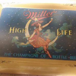 Vintage Miller High Life Beer Tip Tray for Sale in Tempe, AZ