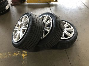 """Mercedes 17"""" rims with tires. Perfect for any model Mercedes with great Michellin tires for Sale in Columbus, OH"""