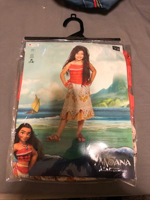 Moana costume with wig for Sale in Saginaw, TX