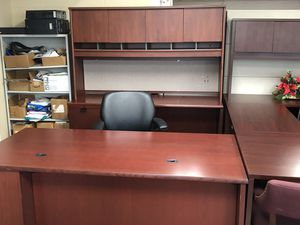 Desk credenza and hutch set for Sale in Aurora, IL