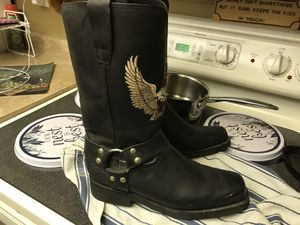 Like new MENS Bulldozer motorcycle boots size 9 for Sale in PT CHARLOTTE, FL