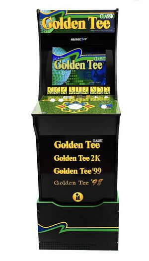 Arcade1up Golden Tee with lighted marquee and custom riser for Sale in Redlands, CA