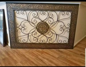 Large metal wall art, mirror, chairs for Sale in DeSoto, TX