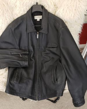 Calvin Klein men's XL soft leather jacket. for Sale in Spring, TX
