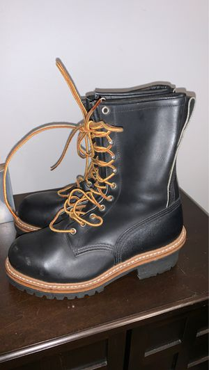 Red wing shoes ladies work boots with vibram steel toe for Sale in Downey, CA