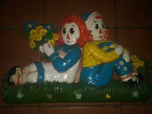 Vintage 1977 Bobbs Merrill Co. Syroco raggedy Ann and Andy Collectible wall plaque for Sale in Hawthorne, CA