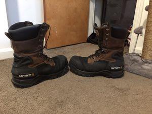 """Carhartt 10"""" men's composite toe work boots. for Sale in Cincinnati, OH"""