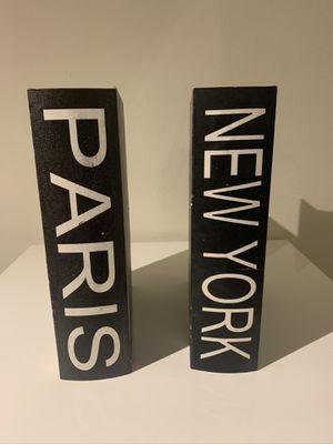 Paris/New York Faux Books for Sale in Dallas, TX