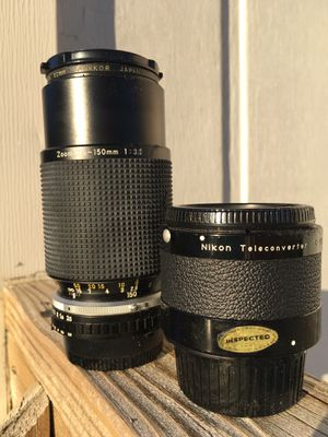 Nikon 2x Teleconverter and 75-150mm Zoom Lens. for Sale in Siler City, NC