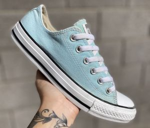 Converse Light Faded Blue Womens Casual Low Top Sneakers Shoes Sz 8 for Sale in Las Vegas, NV