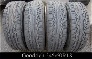 SET OF 4 - GOODRICH ADVANTAGE 245/60R18 tires for Sale in Warwick, RI