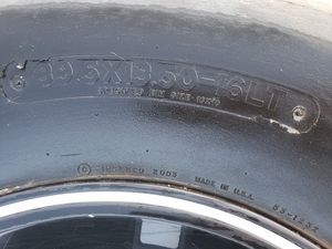"Chevy 8 lug 16in rims, Irok 39"" tires low tread. Rim's in really good shape. $600 for Sale in Riverside, CA"