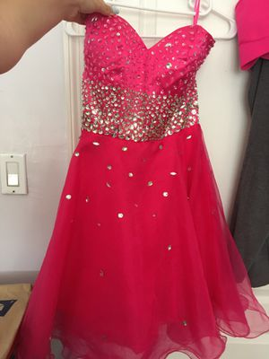 Hot Pink Short Quinces Prom Homecoming Dress With Sequins - Grace Karin for Sale in Hialeah, FL