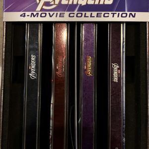 Avengers 4K + Blu Ray + Digital Complete 4 Movie Steelbook Collection for Sale in Seattle, WA